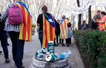 Excursionistas 'indepes' en Madrid